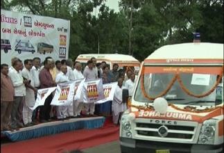 108 Khilkhilat facility launch by Nitin Patel