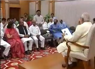 BJP MPs from MP meets PM Modi