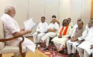 Bihar Chhatisgarh BJP MPs meet PM Narendra Modi