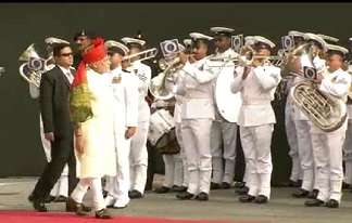 Guard of Honor to PM Modi on I Day