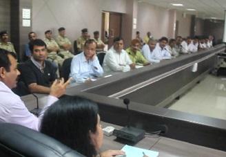 Junagadh district bypolls meeting