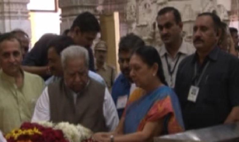 Keshubhai and Anandiben at Somnath