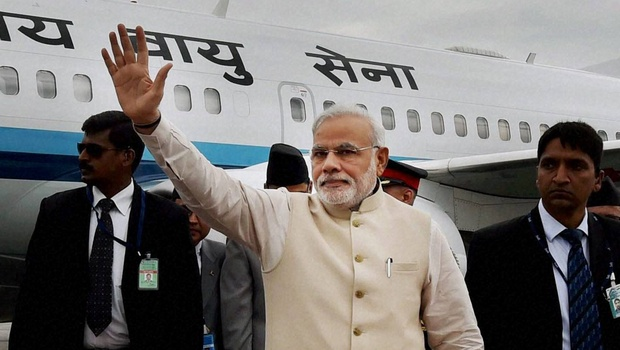 PM Narendra Modi returns from Nepal