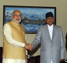 Nepal President Ram Baran Yadav and PM Narendra Modi