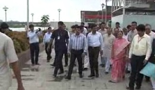 Surat River Front Inaugurated by Anandiben