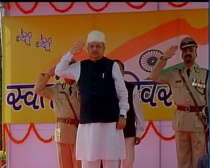flag hosted by Raman Singh Chhatisgadh CM