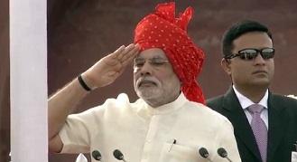 flag hoisting by PM Modi