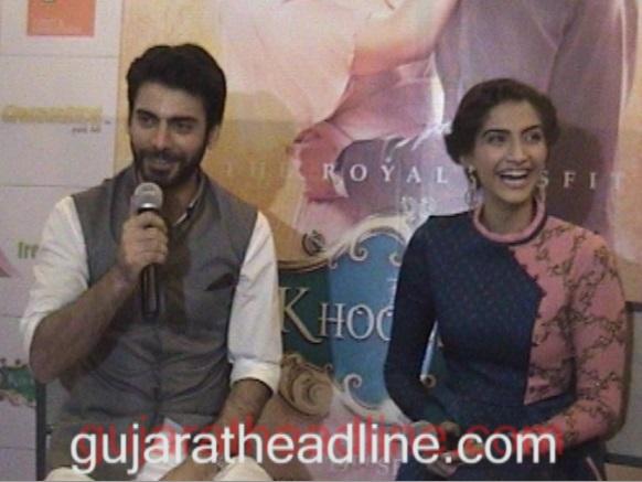 Fawad and Sonam in Ahmedabad