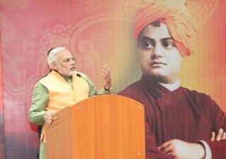 pm modi recalls swami vivekanand