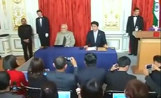 tokyo signing agreement between indian pm and japenese pm