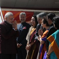 us modi being received