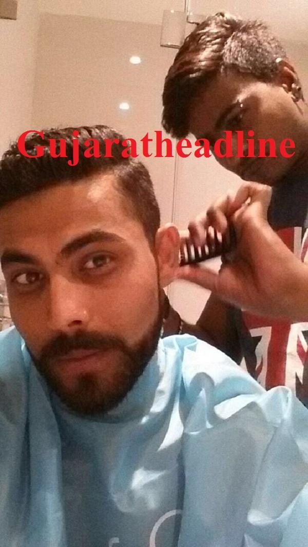 Ravindra Jadeja Hair Cut1