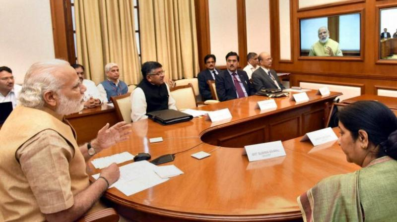 cabinet ministers parliament modi meeting today union council minister meet narendra india prime place take holding pm faces scheduled rejig