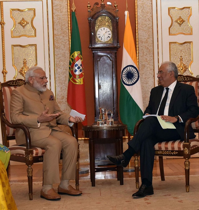 PM Narendra Modi in Portugal