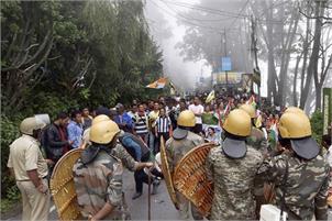 protest in Darjeeling disturb normal life