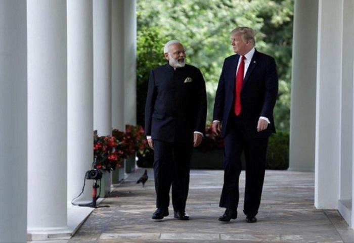 PM Narendra Modi meets US President Donald J Trump in White House