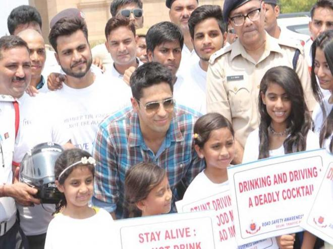 Sidharth Malhotra urges for road safety in Delhi