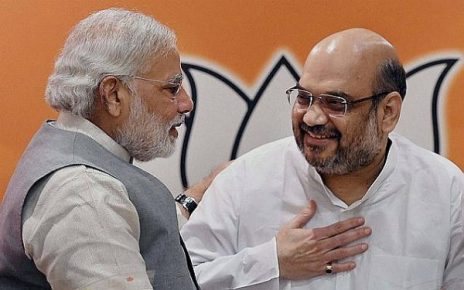 Amit-Shah praise Modi