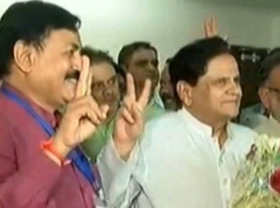 ahmed patel winning rs election