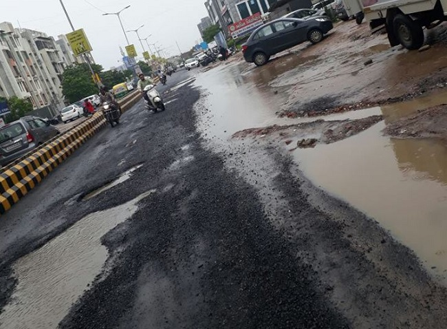 ahmedabad road washed