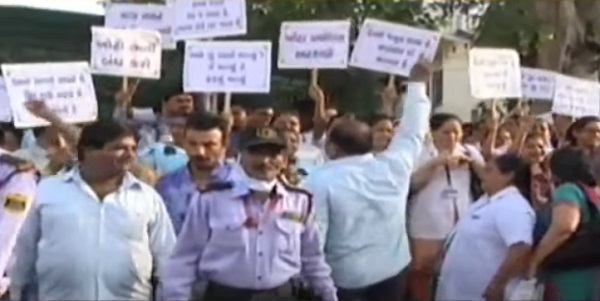 civil staff on strike