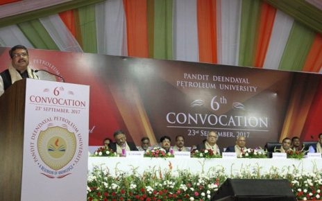 dharmendra pradhan at pdpu convocation