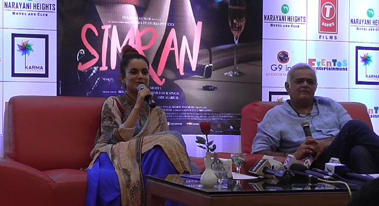 kangana ranaut promotes simran ahmedabad
