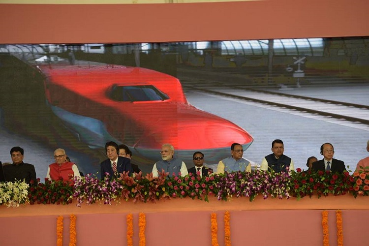 modi shinzo bullet train launch