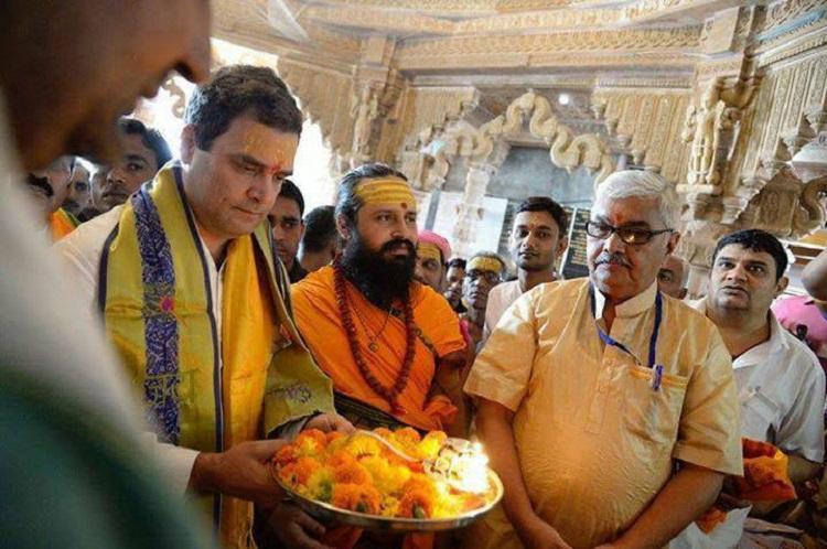rahul gandhi prayers at dwarka