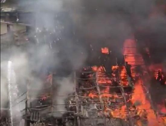 rk studio catches massive fire