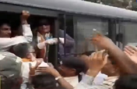 Banaskantha protest by Congress against Gujarat Gaurav Yatra