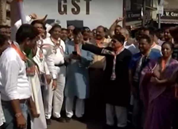 Congress protest against price rise in Ahmedabad