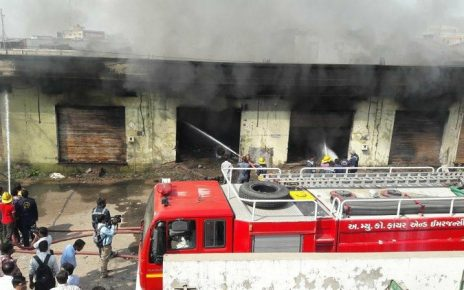 fire near Sarkhej godown in Ahmedabad