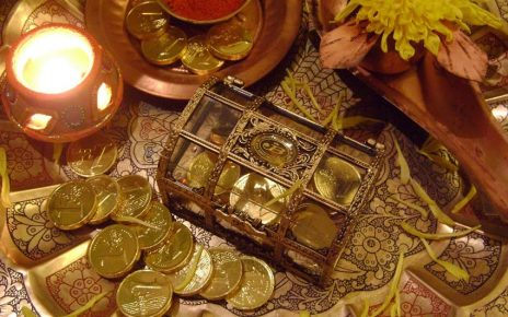 Goddess Lakshmi worshipped on Dhanteras
