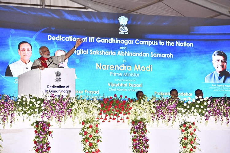 Narendra Modi addresses at IIT Gandhinagar