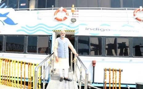 Narendra Modi launch Ro Ro Ferry Service in Gujarat