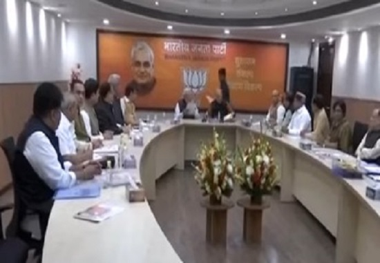 bjp parliamentary board meeting on gujarat elections led by PM