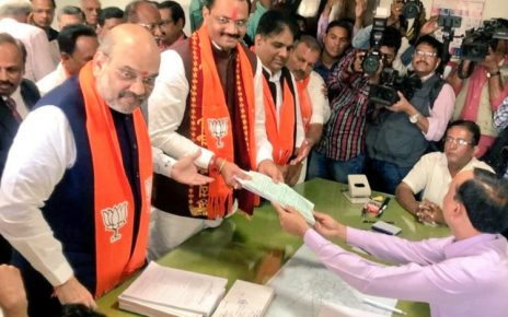 jitu vaghani files nomination for gujarat assembly election
