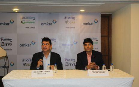 omkar realtors press conference ahmedabad
