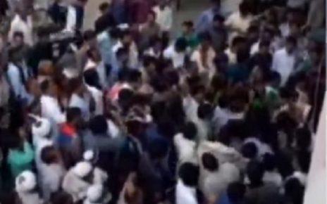 protest at gandhidham over no ticket to ramesh maheshwari