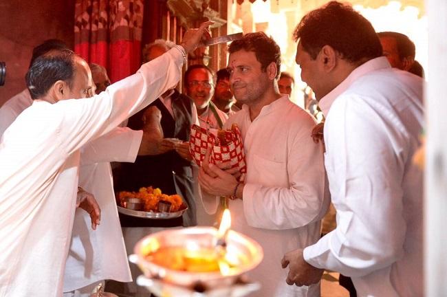 rahul gandhi khodiyar mata temple