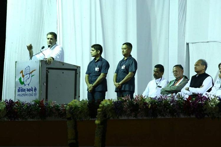 Rahul Gandhi south Gujarat address