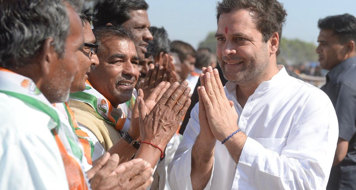 rahul gandhi with farmers