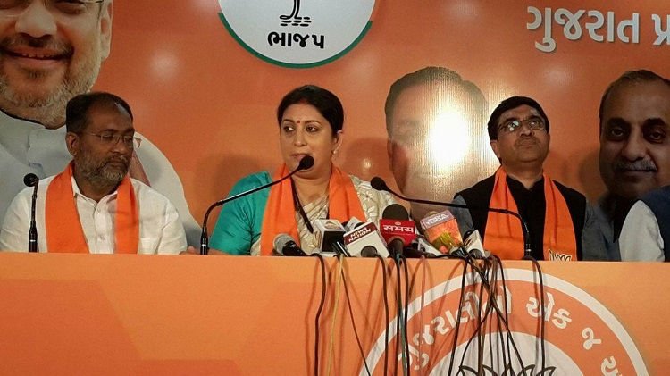 Smriti Irani campaign in Ahmedabad for elections