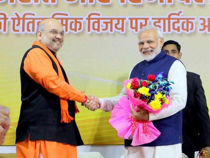 AMIT SHAH AND PM MODI VICTORY
