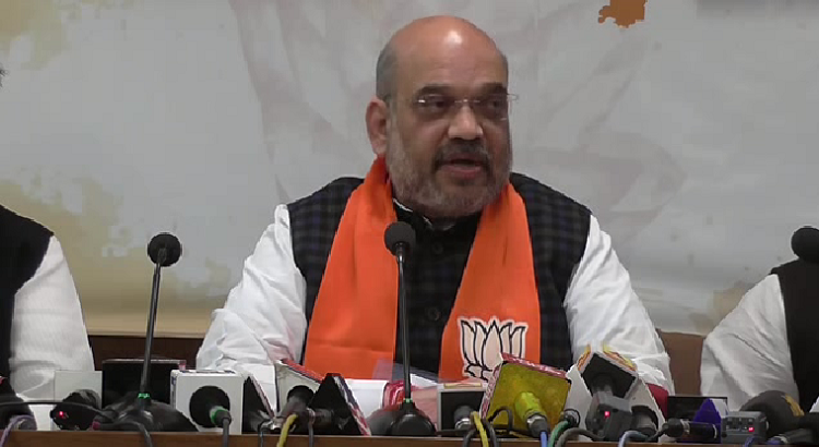 amit shah hits out at congress