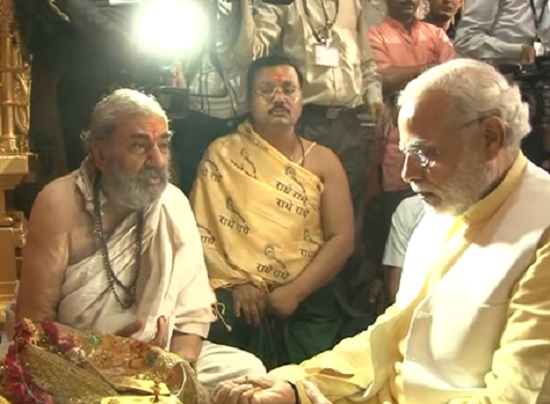 narendra modi offer prayers at ambaji temple