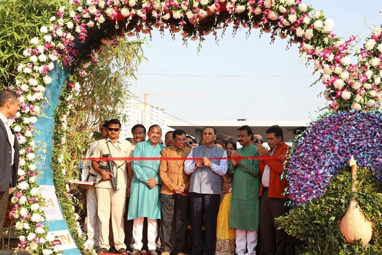 vijay rupani opens ahmedabad flower show
