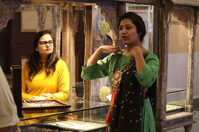 swayamvar jewellery on display