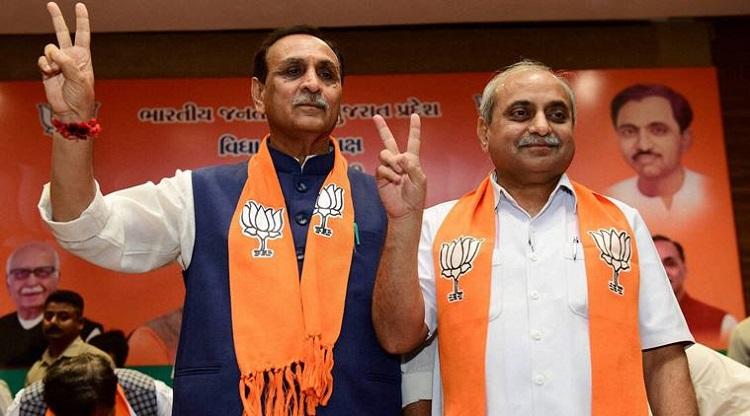 vijay rupani nitin patel elected as gujarat cm dycm